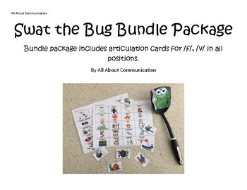 Swat the Bug Articulation Game: /f/ and /v/ bundle
