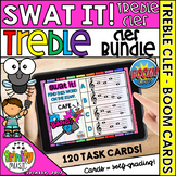Swat the Bug Boom Cards -  Treble Clef Bundle (Digital Task Cards)