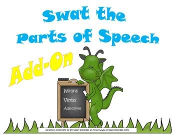 Swat the Parts of Speech Bulletin Board/Literacy Center Add-On