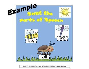 Swat the Parts of Speech Interactive Bulletin Board/Literacy Center