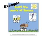 Swat the Parts of Speech Interactive Bulletin Board/Litera