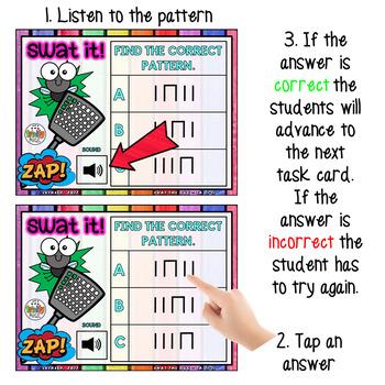 Swat the Bug Boom Cards - Rhythm (Ta and Ti-Ti FREEBIE) - Digital Task Cards