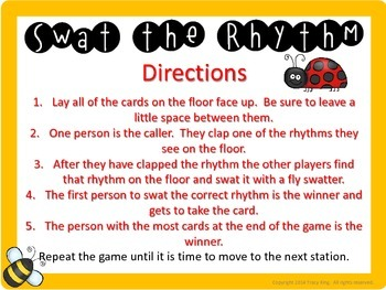 Swat the Rhythm (ta titi sh) Flyswatter Activity for Music Class