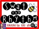 Swat the Rhythm (tikitiki, ta, titi, sh) Flyswatter Activity for Music Class