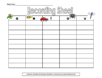 Swat the Short Vowels Interactive Bulletin Board/Literacy Center