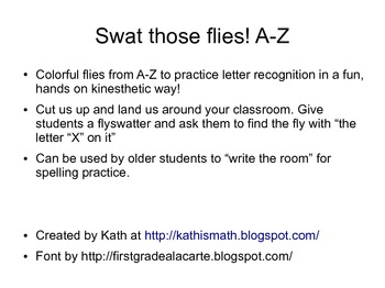 Swat those Letters a-z lower case