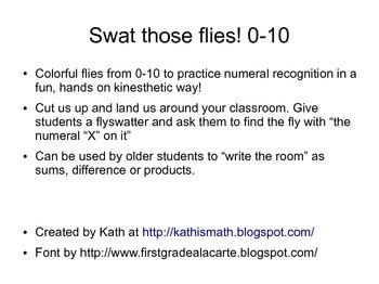 Swat those Numbers 0-10