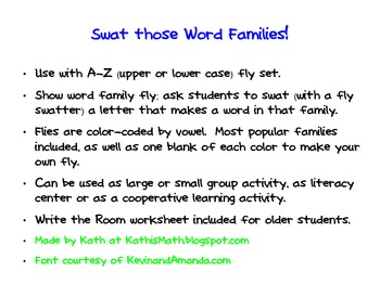 Swat those Word Families!