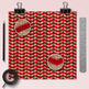Sweater Digital Paper, Beige And Red Knitted Patterns