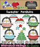Sweater Penguins Clipart Collection