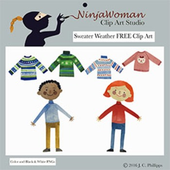 Sweater Weather FREE Clip Art