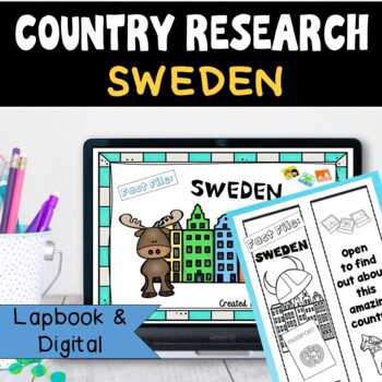 Sweden Country Research Project, PBL:Interactive Lapbook and Notebook