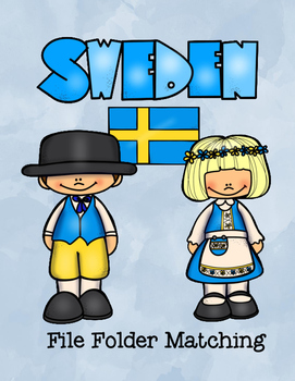 Sweden File Folder Match