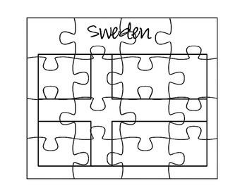 Sweden Flag Puzzles