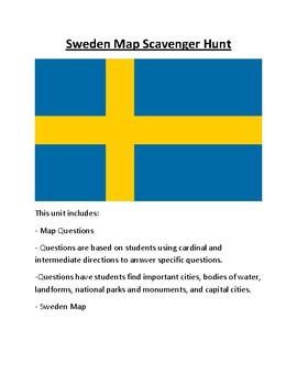 Sweden Map Scavenger Hunt