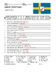 Sweden Word Search Worksheet and Printable Vocabulary Word Puzzles