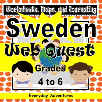 Sweden:  Worksheets, Maps, and Journaling Pages