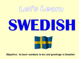 Swedes lesson Greetings and Numbers up to 10