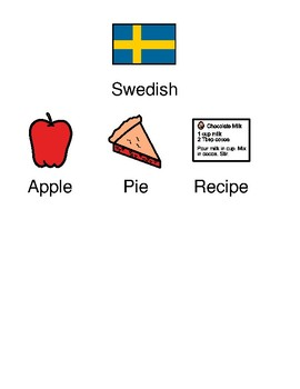 Swedish Apple Pie - Recipe picture supported text visual supports - Yummy