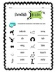 Swedish Body Parts Worksheet Packet
