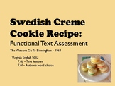 Swedish Cremes Recipe - Functional Text and Questions