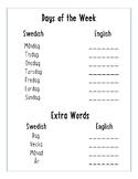 Swedish-English Basic Terms Review