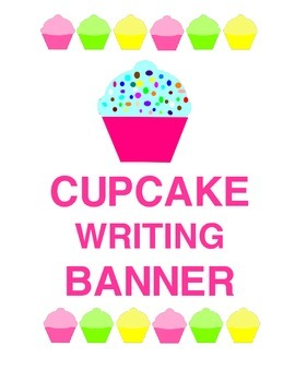 Sweeet!  Cupcake Writing Banner