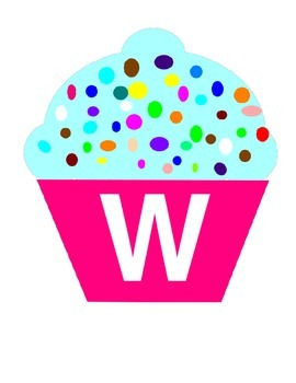 Sweeet! Cupcale Word Wall Banner Cupcake