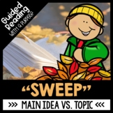 Sweep Book Companion | Guided Reading Activities | Main Idea vs. Topic