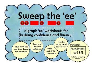 Sweep the 'EE' Phonics/Digraph FREEBIE!