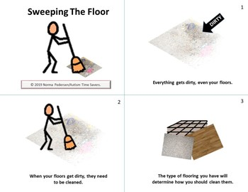 sweeping the floor by autism time savers teachers pay teachers sweeping the floor