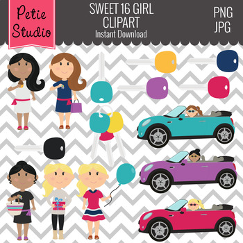 Sweet 16 Birthday Clipart and Teen Driver Clipart - Kids105