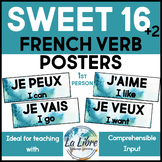 Sweet 16 French Word Wall High Frequency 1st Person Posters