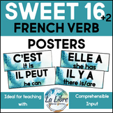 Sweet 16 French Word Wall High Frequency Present Tense Blu