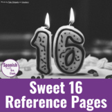 Sweet 16 High Frequency Verbs: Reference Pages (Present Tense)