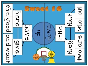 Sweet 16 Sight Word Game