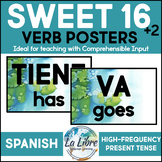 Sweet 16 Spanish Word Wall High Frequency Present Tense Bl