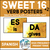 Sweet 16 Spanish Word Wall High Frequency Present Tense Go