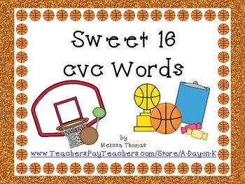 Sweet 16 cvc Words
