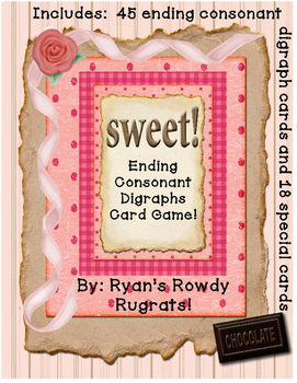 Sweet!  A Consonant Digraph Ending Game