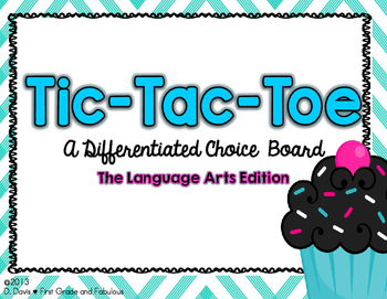 Tic-Tac-Toe Differentiated Choice Boards for ELA