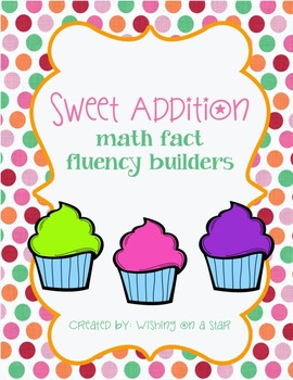 Sweet Addition Facts Fluency Tests 0-12 Pack and Addition