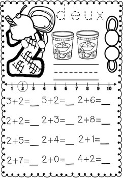 Sweet Addition (french and english worksheets)