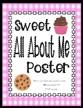 Sweet All About Me Poster - Locker Decoration