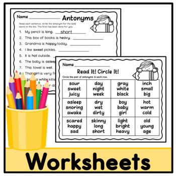 Antonym Activities - Set 1
