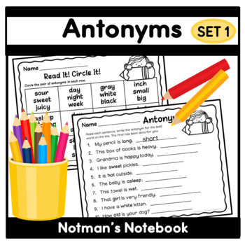 Sweet Antonyms - Set 1
