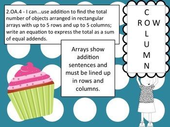 2.OA.4 Sweet Arrays