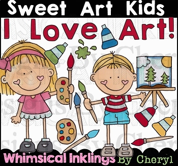 Sweet Art Kids Clipart Collection