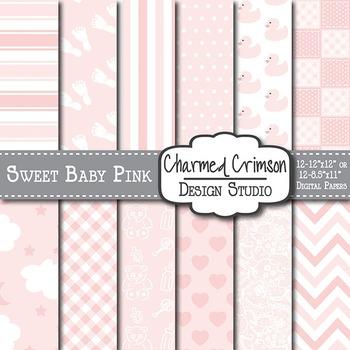 Sweet Baby Pink Digital Paper 1092