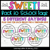 Sweet Back to School Gift Tags Treats Welcome Sweet Year G